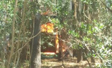 Se incendió casa en Anaconda