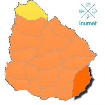 Rocha: rige alerta naranja por persistencia de lluvias y tormentas