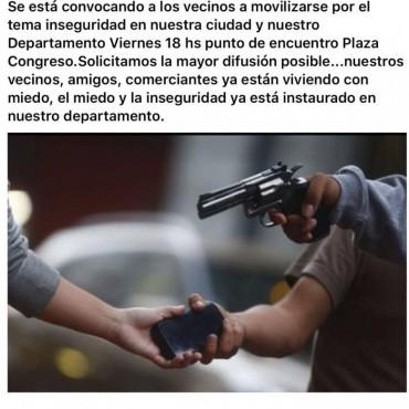 Vecinos marcharán por inseguridad en Rocha