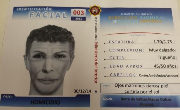 Caso Lola: este es el identikit del hombre que busca la policía