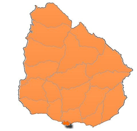 Rocha: rige alerta naranja