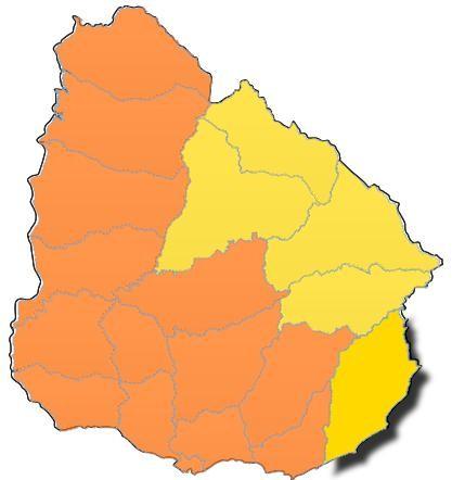 Rocha: alerta amarilla hasta las 18