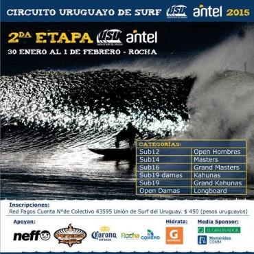 Llega a La Paloma la segunda fecha del Circuito Nacional de Surf