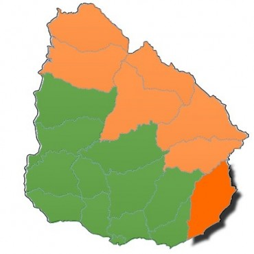 Rocha: alerta naranja hasta las 21 horas