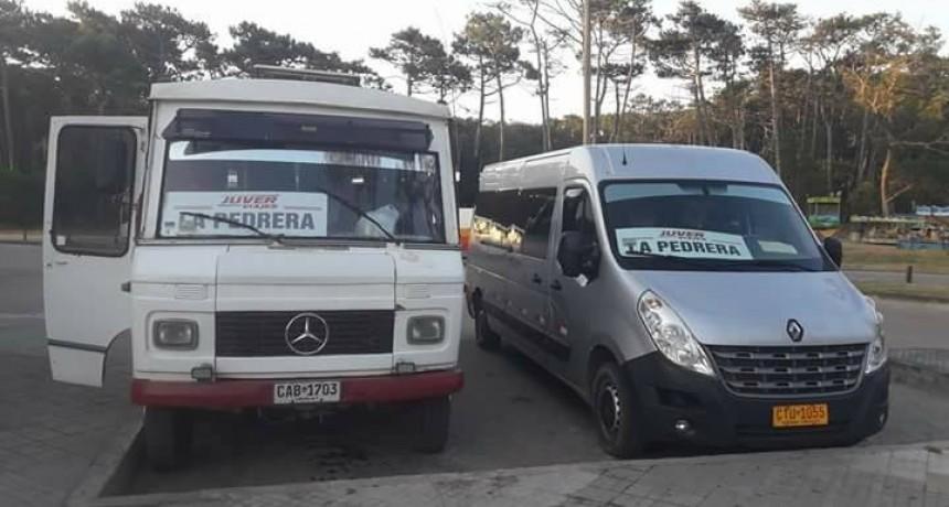 Horarios de transporte entre playas de La Paloma y La Pedrera