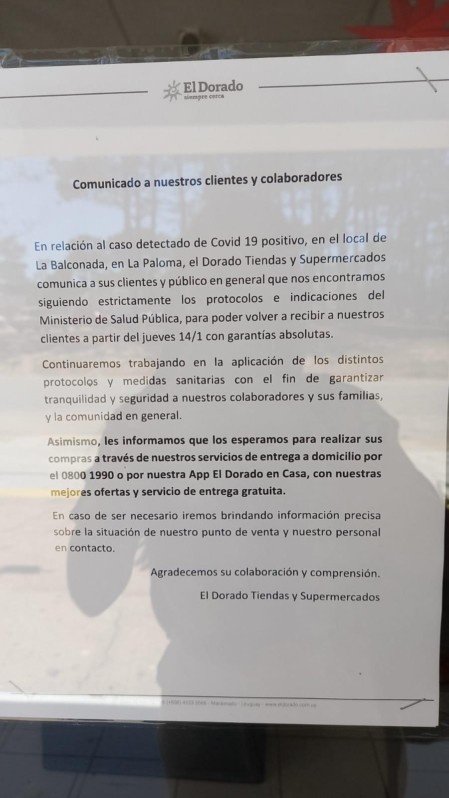 El Dorado de La Balconada cerrado por caso de COVID-19