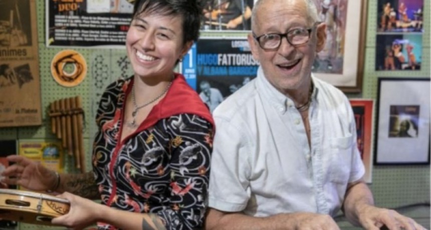 Hugo Fattoruso y Albana Barrocas en el Club La Pedrera