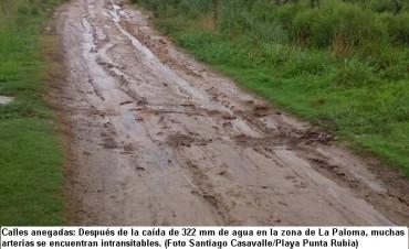 Situación en La Paloma a raíz de las lluvias