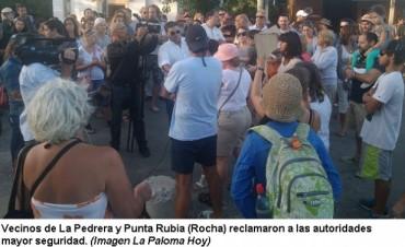 La Pedrera: vecinos marcharon reclamando seguridad
