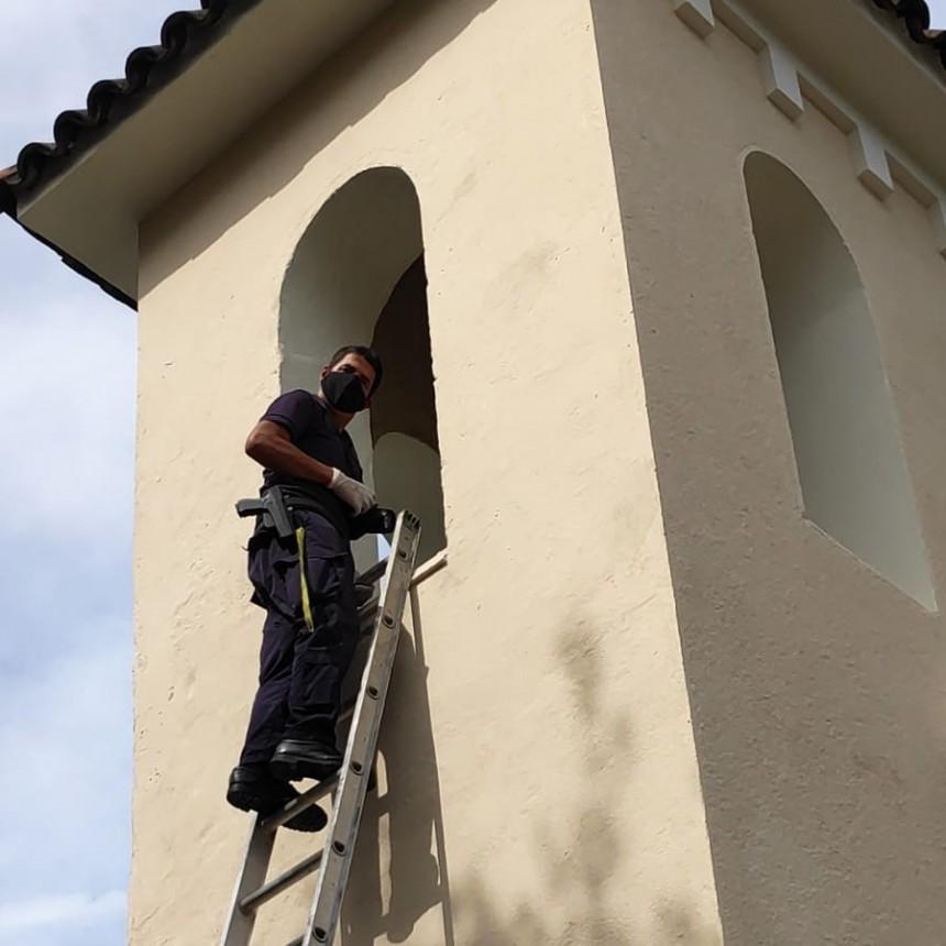Insólito: robaron la campana de la Iglesia en La Pedrera