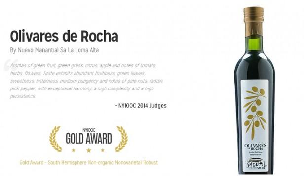 Fue premiado en Nueva York un aceite elaborado en Rocha