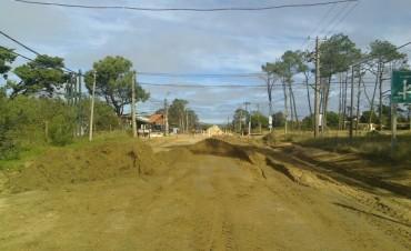 El Municipio de La Paloma comenzó la repavimentación de Sagitario