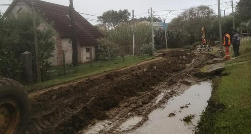 Municipio trabaja en calles de La Pedrera