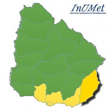 Atención Rocha: alerta amarilla por fuertes vientos
