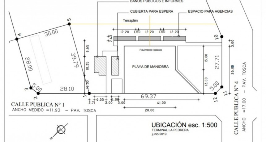 Comenzaron los trabajos para la terminal de ómnibus de La Pedrera