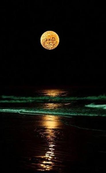 Noche de la nostalgia cerca del mar