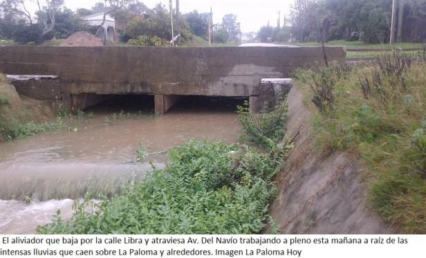 ¿Cómo se encuentra La Paloma con tanta lluvia?