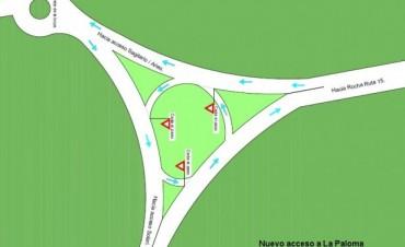 Se modificó el acceso vehicular desde Ruta 15 hacia avenida Solari