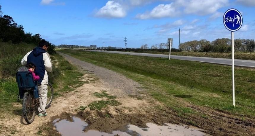 Vecinos piden arreglar la ciclovía que une Santa Isabel con Arachania