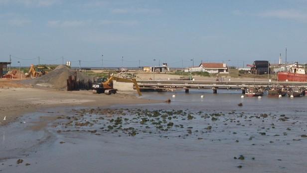 Continúan las obras en el Puerto de La Paloma