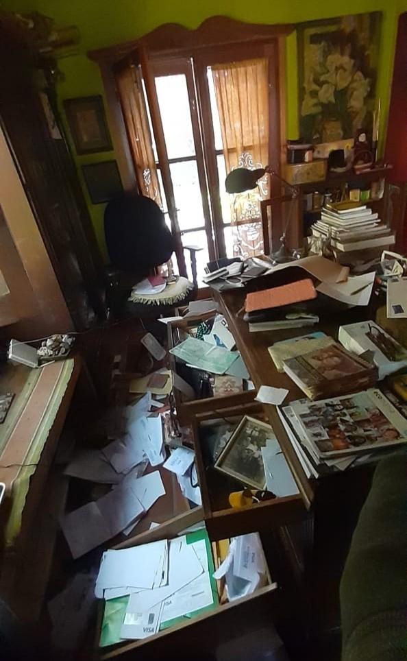 Destrozos en una casa a la que ingresaron con fines de robo