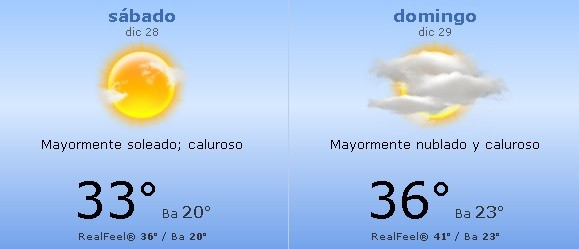 Sigue el calor!