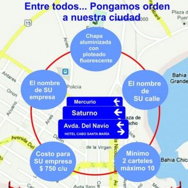 Municipio de La Paloma y la Liga de Turismo renuevan la cartelería de calles