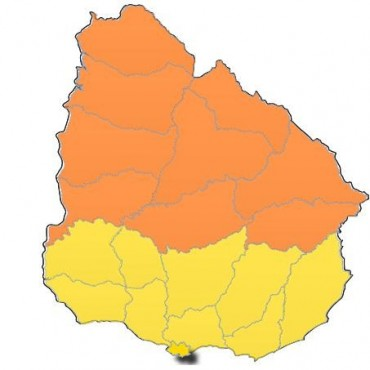 Rocha: rige alerta amarilla hasta las 7