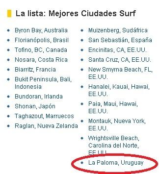 La Paloma elegida como una de las mejores playas para surfear