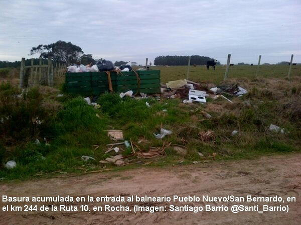 Reclaman por basura en San Bernardo
